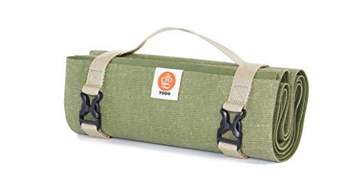 Yogo Ultraleichte Reise Yoga-Matte mit Riemen, Griff, Origami Klapp-Design für das Pendeln und Reisen (Wald)