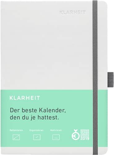 KLARHEIT KALENDER undatiert mit 52 Wochen (A5)– dein Organizer, Terminplaner, Notizbuch und Terminkalender mit Life-Coach zur Selbstreflexion & Persönlichkeitsentwicklung, hell