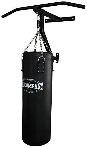 Bad Company Klimmzugstange, Boxsack und Wandhalterung im Set I gefüllter Sandsack 90 x 30 cm (23 kg) inkl. Stahlkette und Befestigungsmaterial I BCA-109