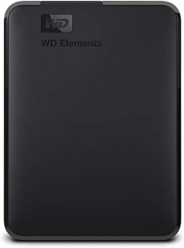 WD Elements externe Festplatte 2 TB (USB 3.0-Schnittstelle, Plug-and-Play, kompakt und leicht) schwarz