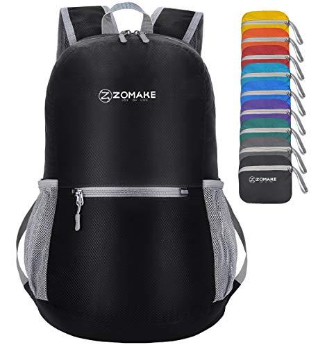 ZOMAKE, ultraleichter kleiner Rucksack, faltbar und wasserabweisend, ideal für alle Outdoor-Aktivitäten