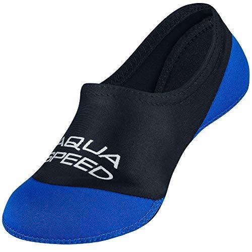 Aqua Speed Neopren Socks für Kinder   Neoprensocken elastisch   Socken Schwimmen   Barfoot Aquasocks Kids   Wassersocken   Schwimmsocken   Schnorcheln   Gr. 34-35   11 Schwarz - Blau