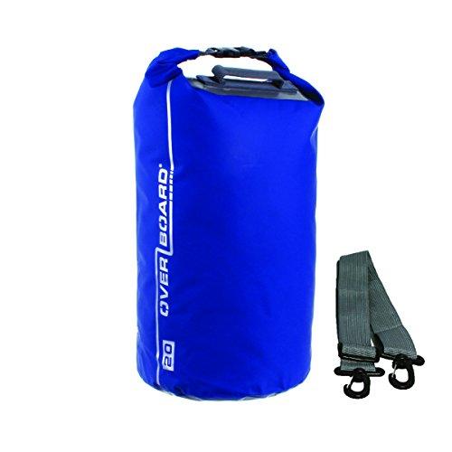 Overboard Wasserdichte Trockenröhrentasche mit verstellbarem Schulterriemen zum Bootfahren, Kajak, Angeln, Rafting, Schwimmen, Camping und Snowboarden, Blau ,5 Liter