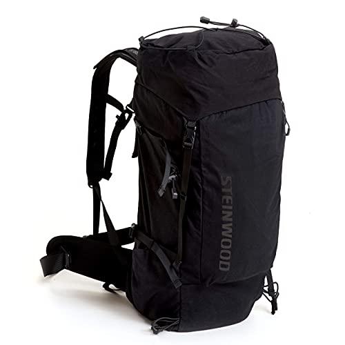 Steinwood Wanderrucksack 35L Unisex - Outdoor-Rucksack, Trekkingrucksack, Tagesrucksack wasserabweisend mit Regenhülle und Rückenbelüftung