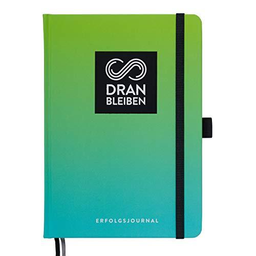 DRANBLEIBEN Erfolgsjournal – für Ziele, Fokus, Selbstreflexion, Achtsamkeit & persönliche Entwicklung – DIN A5 (Fresh Green)
