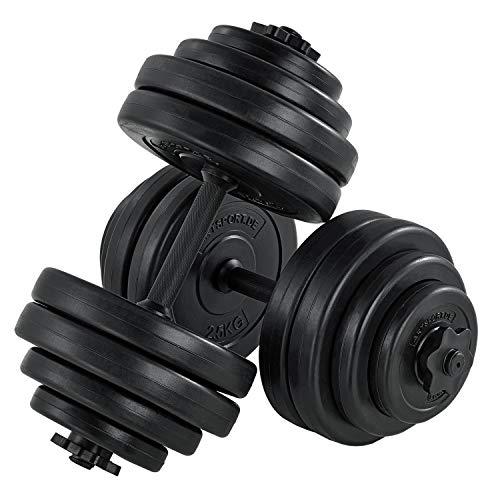 ArtSport 2er Hantelset 30kg - Kurzhantel Set mit 2 Kurzhanteln, 16 Gewichte Hantelscheiben und Sternverschlüsse| Krafttraining Kurzhantelset Hantel