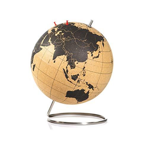 SUCK UK Large Cork Globe / Großer Kork Globus – halten Sie ihre Reisen, Abenteuer und Erinnerungen fest