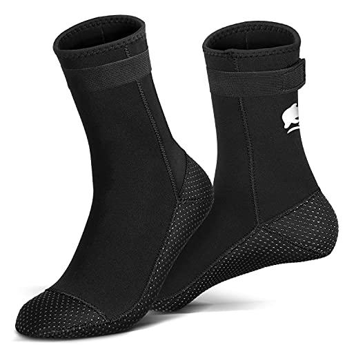 RTDEP Neoprensocken 3 mm Tauchsocken Rutschfest Flossen Socken Wasserdicht Neopren-Socken Schwimmsocken Thermo Tauchschuhe Schwimmschuhe für Männer Frauen Wassersocken