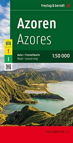 Azoren, Autokarte 1:50.000: Achtung! Besondere Ausflugsziele. Ortsregister mit Postleitzahlen. GPS (freytag & berndt Auto + Freizeitkarten)