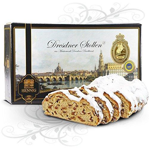 2000 g handgemachter 'Original Dresdner Christstollen®' im Geschenkkarton Motiv 'Canaletto Dresden'