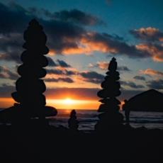 Sonnenuntergang in Mosteiros