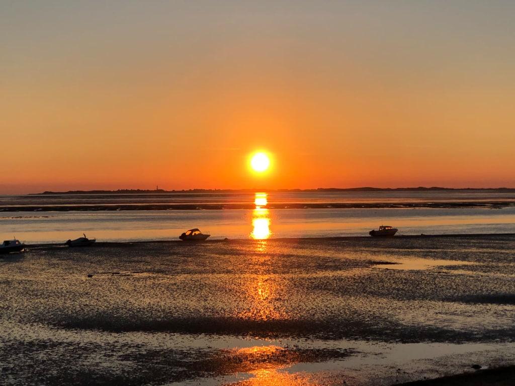 Sonnenuntergang in Utersum auf Föhr