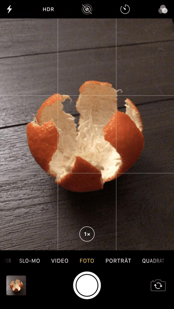 iPhone Kamera Einstellung ohne HDR