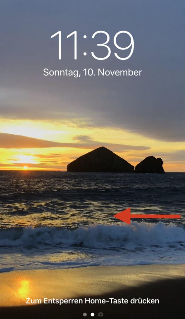 iPhone Kamera im Sperrbildschirm starten